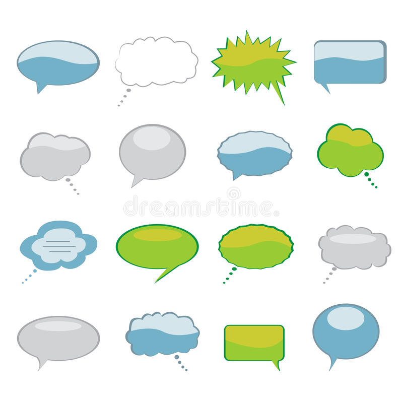 Download Speech and Thought Bubbles stock vector. Image of drawing - 13283409