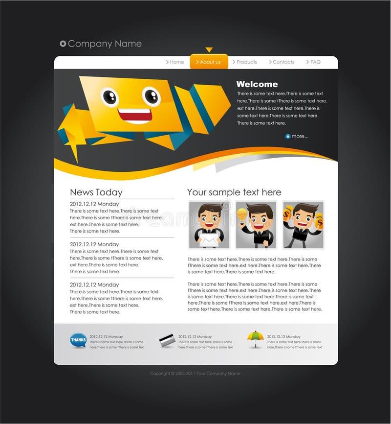 Speech Web site design template. Drawing stock illustration