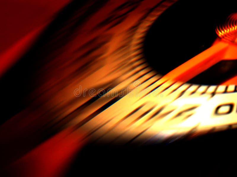 Speed. Motorcycle speedometer under great speed