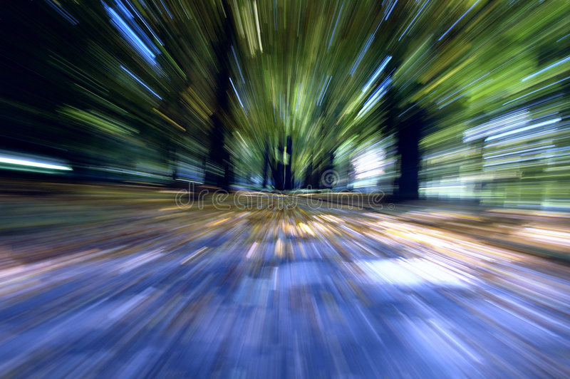 Speed. High speed road to infinity stock image