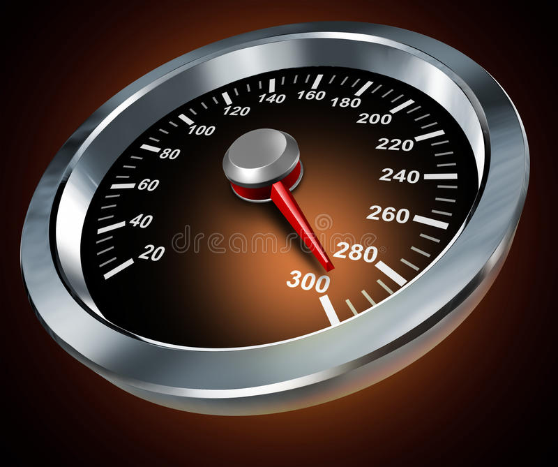 Download Speed stock illustration. Image of dial, illuminated - 24697018