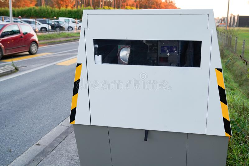 Speed automatic camera radar car modern speed trap royalty free stock images