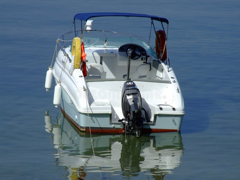 Speed boat. On a quiet sea stock photo