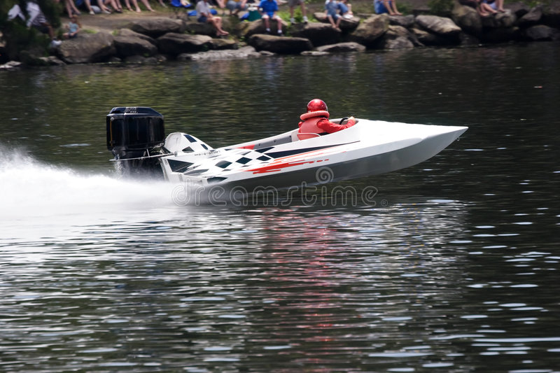 Speed Boat. A speed boat on the river stock photos