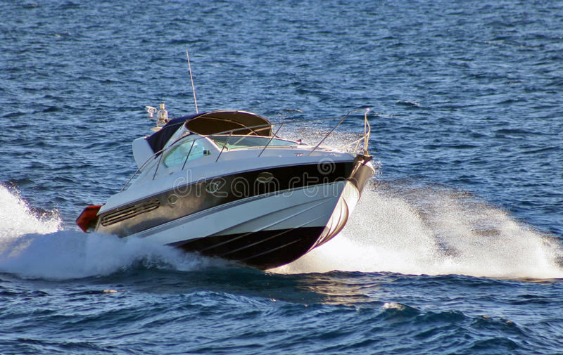 Speed Boat. A luxury speed boat on the sea hollyday stock images