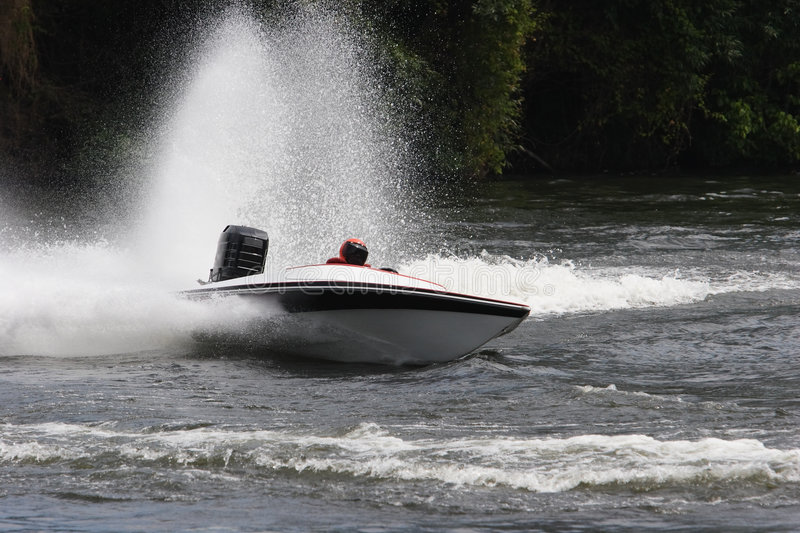 Speed Boat. A speed boat on the river stock photography