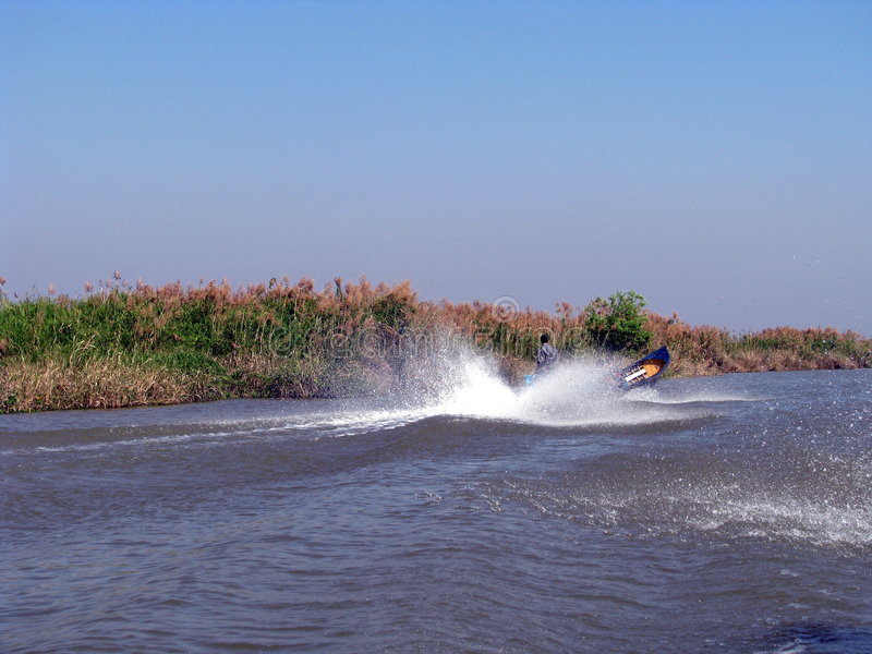 Download Speed boat in action stock photo. Image of hobby, person - 9159350