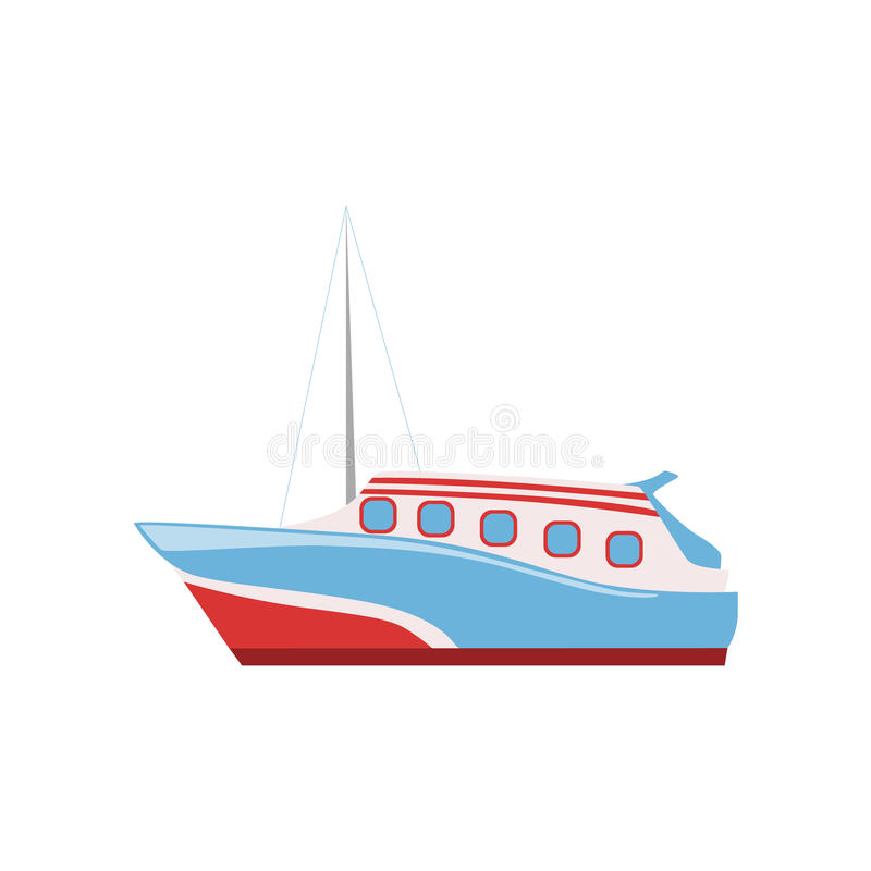 Speed Boat As A National Canadian Culture Symbol stock illustration
