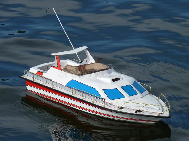 Speed Boat Model. On the water royalty free stock photos