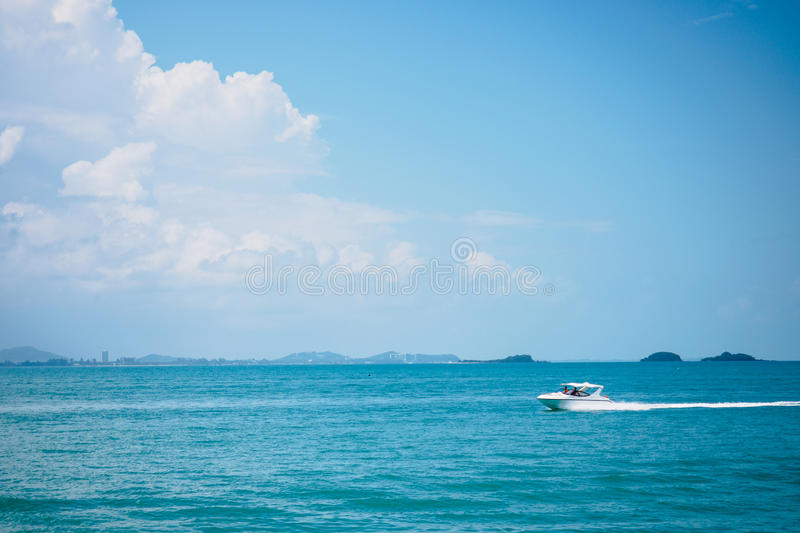 Speed boat. At Samed island, Thailand royalty free stock image