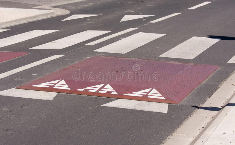 Speed bump. Or speed hump royalty free stock photos