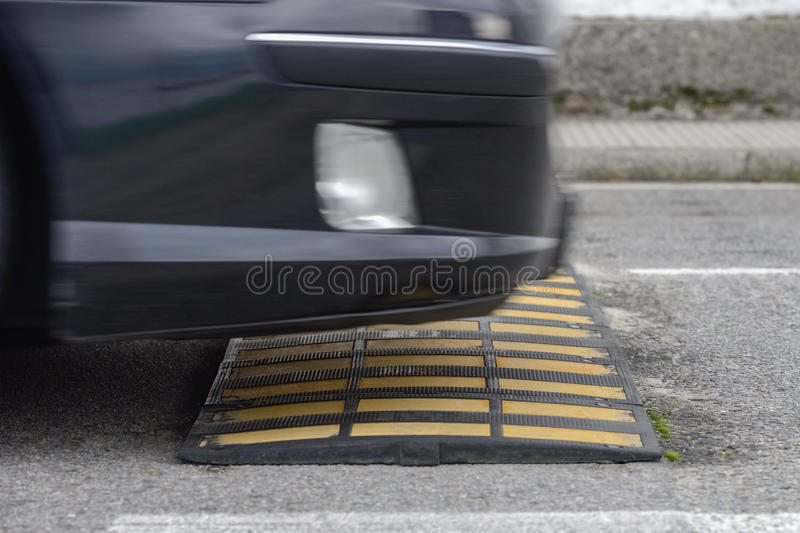 Speed bump close up stock images
