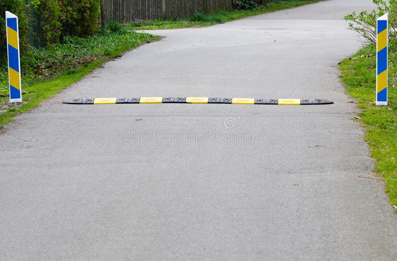 Speed bump stock photography