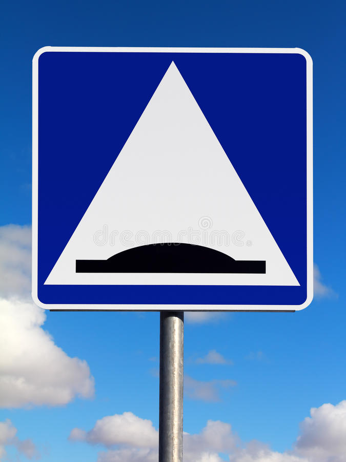 Speed bump traffic sign stock photography