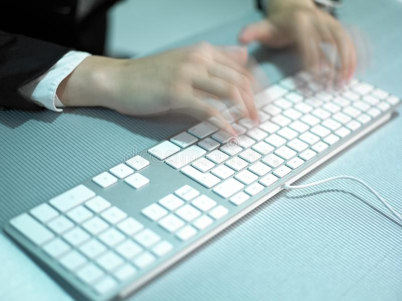 Speed Business Speedy Typing Royalty Free Stock Image