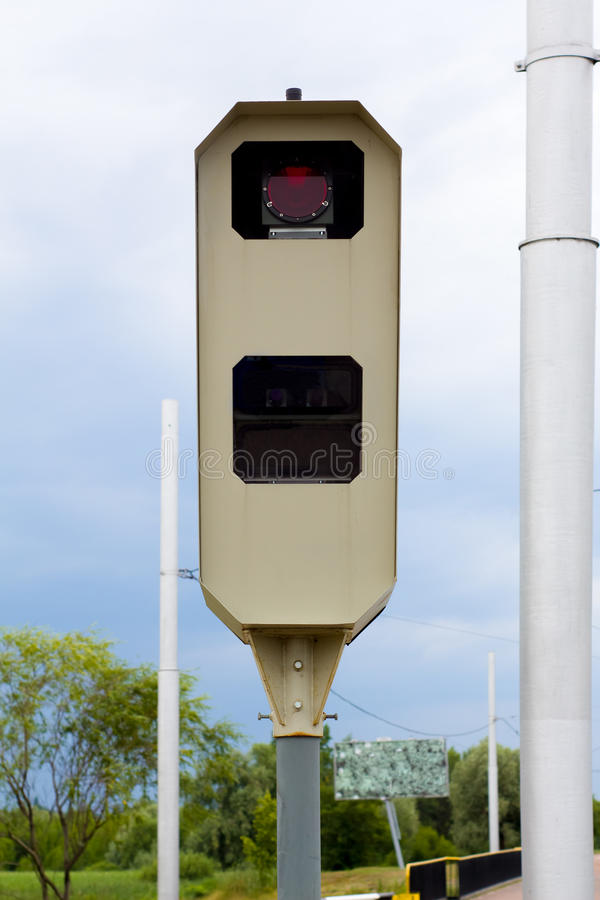 The speed camera stock image