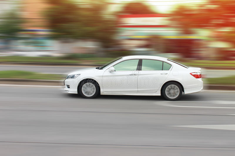 The speed of the car royalty free stock photo
