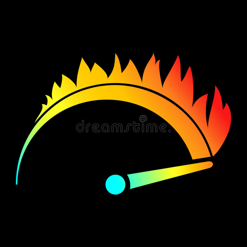 Free Speed Color Icon Royalty Free Stock Photo - 53729975