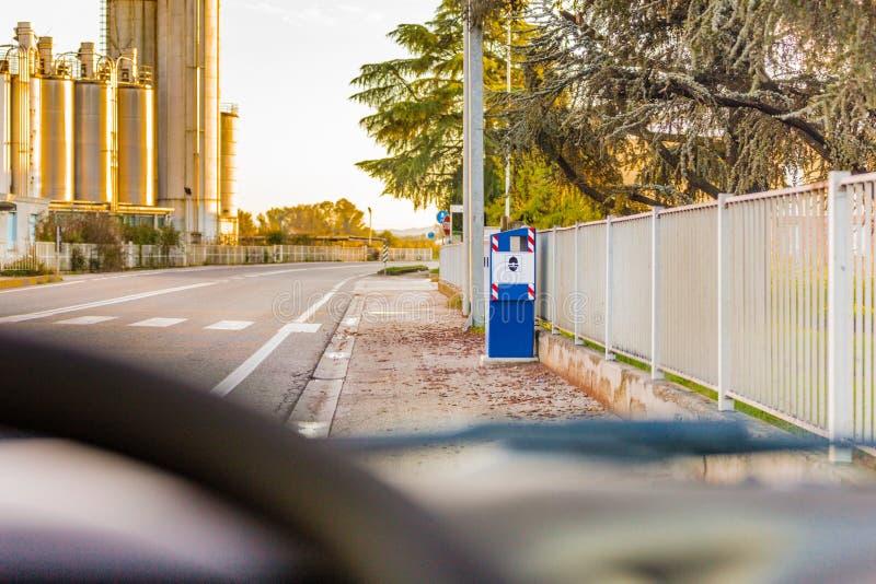 Speed control box royalty free stock photo