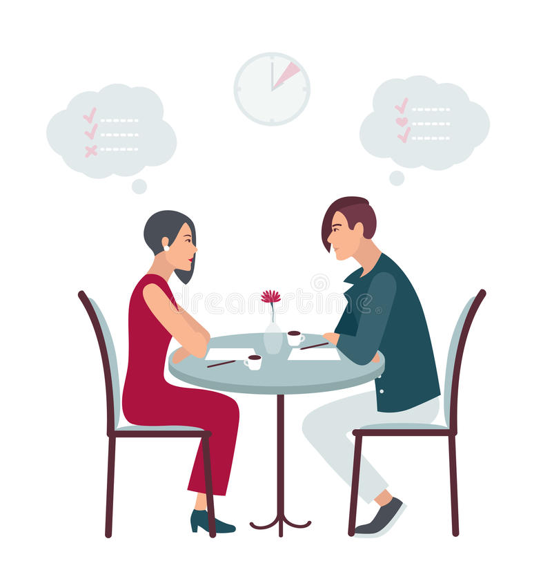 speed dating free vector