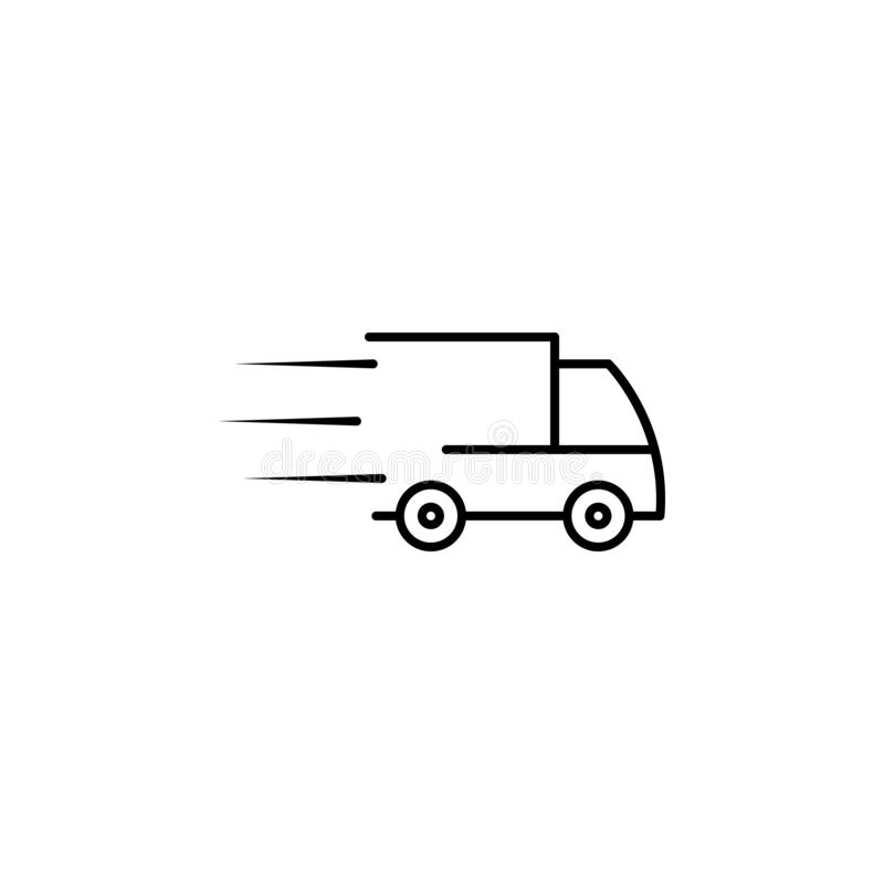 Speed delivery truck icon. Element of speed for mobile concept and web apps illustration. Thin line icon for website design and. Development, app development royalty free illustration