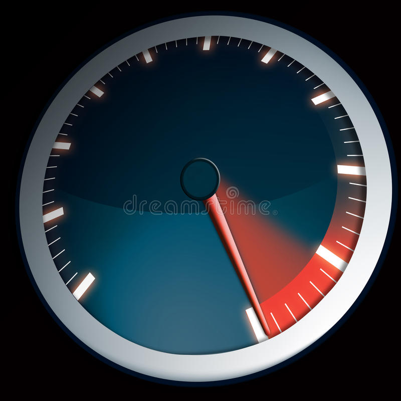 Download Speed Dial For A Car Maximum Power Stock Illustration - Illustration of speedometre, black: 20963289