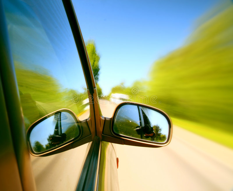 Speed drive. Blurred transportation background royalty free stock photos