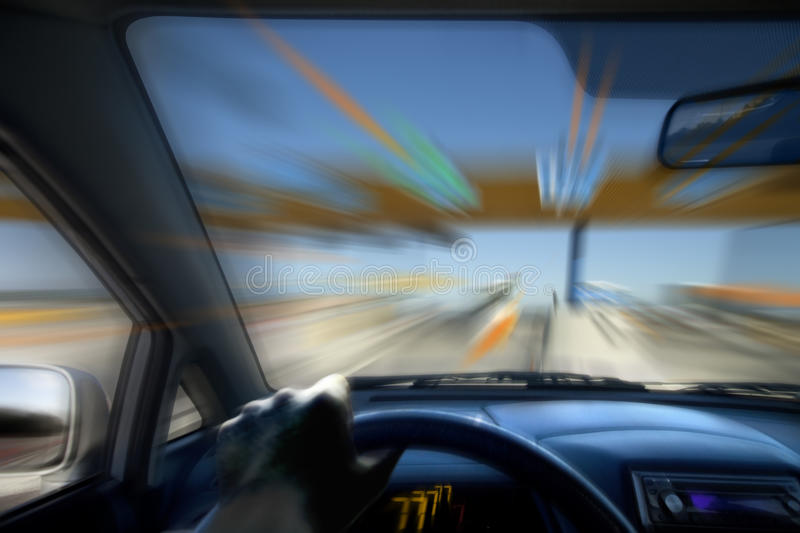 Speed driving royalty free stock photos