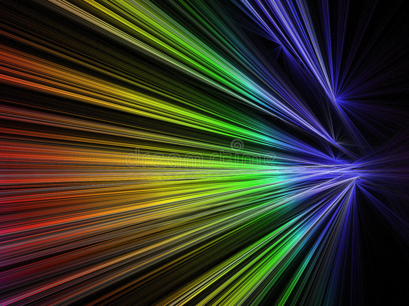 Download Speed Fractal In Rainbow Color Stock Illustration - Image: 3431776