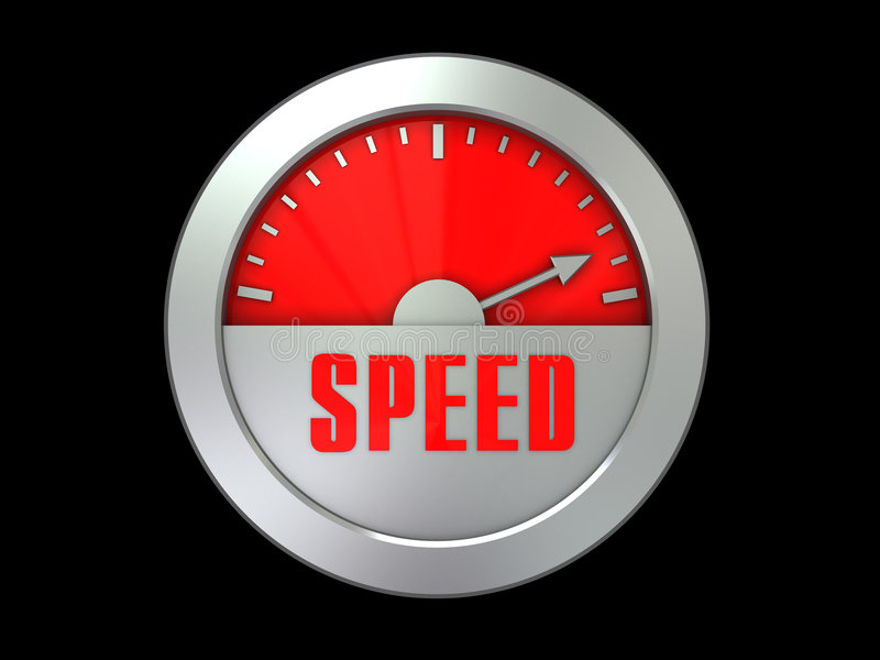 Speed gauge vector illustration
