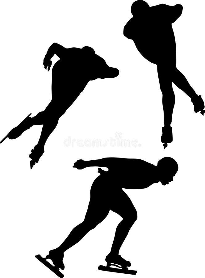 Speed ice skating vector illustration