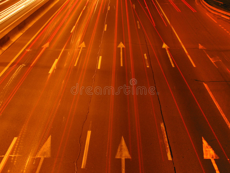 Speed of light stock photography