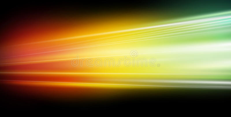 Speed of the light. Speed of the electrons captured in colors. Vector illustration on dark black background. Pretty good abstract background for web design. You