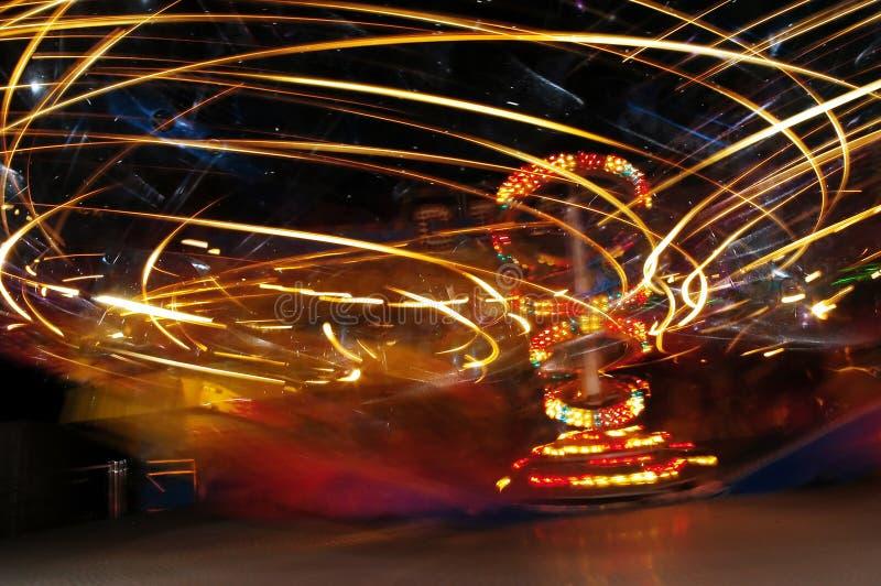 Speed Light In Luna Park Stock Images
