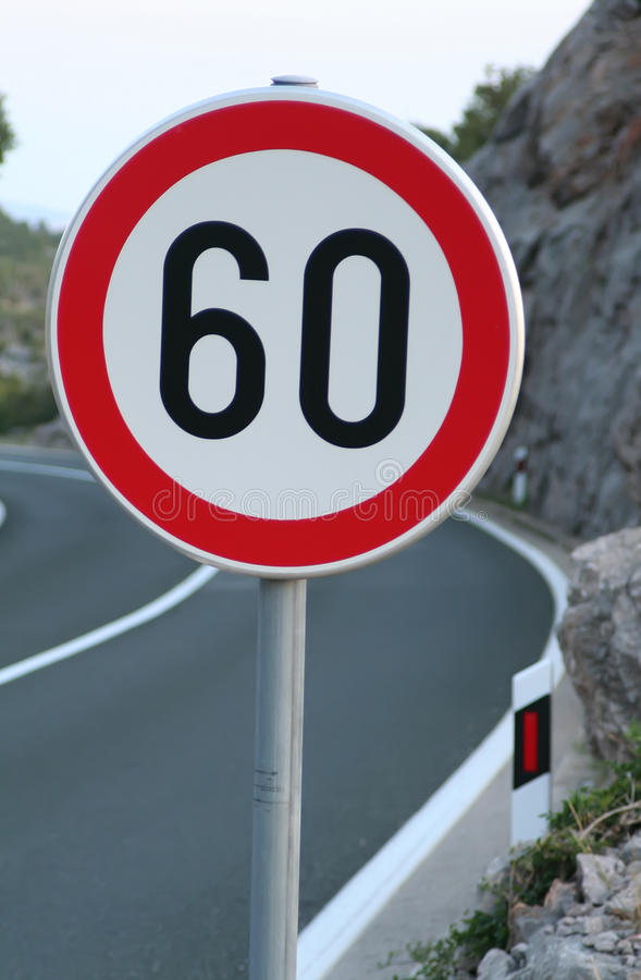 Speed limit stock images