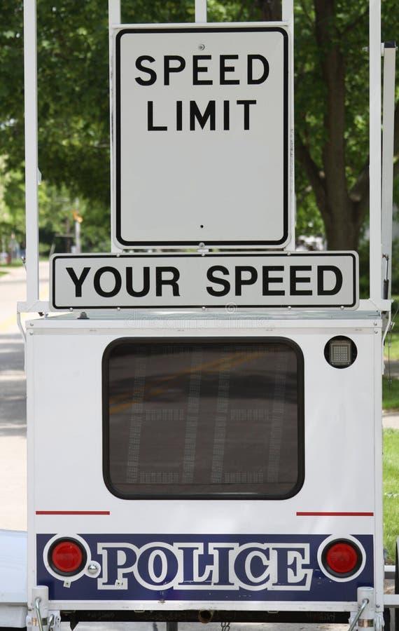 Speed limit royalty free stock photos
