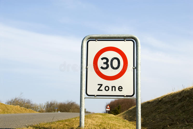 Speed limit 30 royalty free stock photos