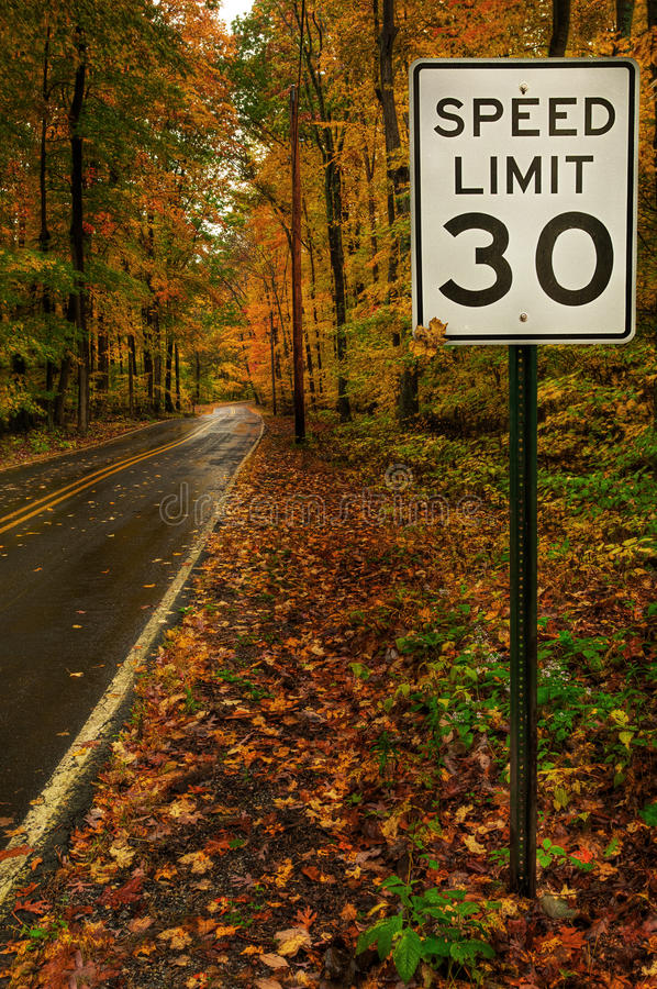 Free Speed Limit 30 Royalty Free Stock Images - 22379939