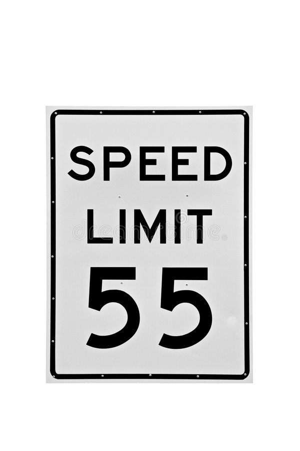 Download Speed Limit 55 Mph Isolated Stock Photo - Image: 3270626
