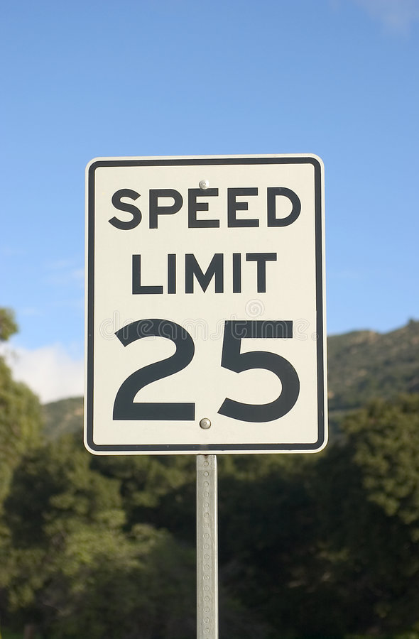 Speed Limit Sign stock images