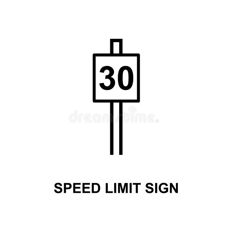 speed limit sign 30 icon. Element of railway signs for mobile concept and web apps. Detailed speed limit sign 30 icon can be used stock illustration
