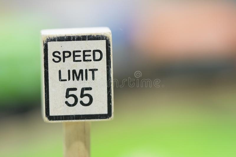 Speed Limit sign Wooden Toy Set - Play set Educational toys for. Preschool indoor playgroundselective focus stock image