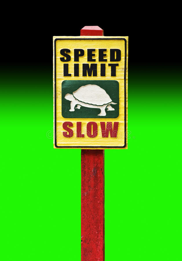 Download Speed Limit Slow stock image. Image of curb, ecofriendly - 18490195