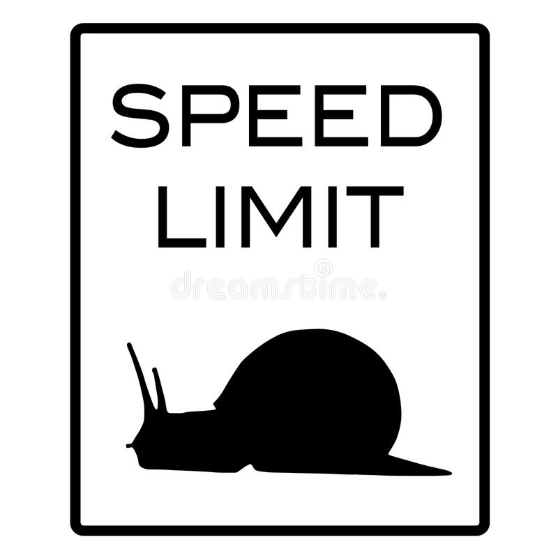 Speed Limit Snail Stock Images