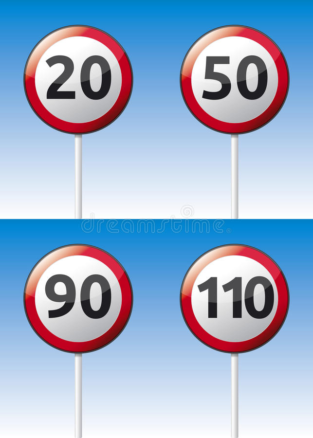 Download Speed Limit Traffic Road Board Stock Vector - Image: 32384286