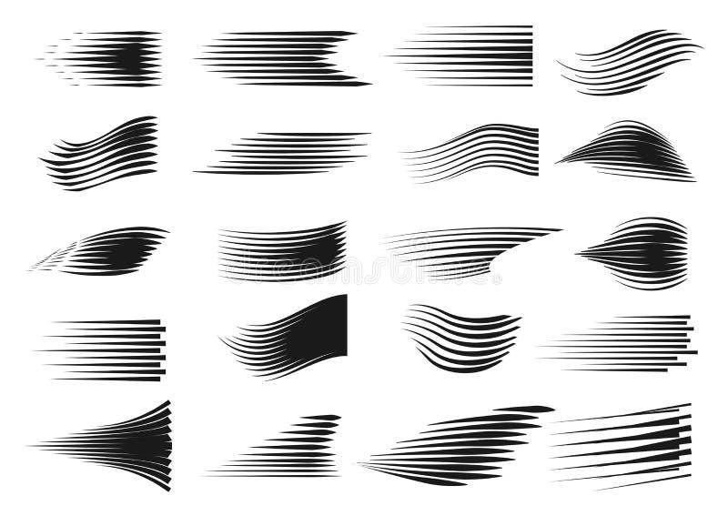 Horizontal Line Art : Speed line set stock vector illustration of horizontal