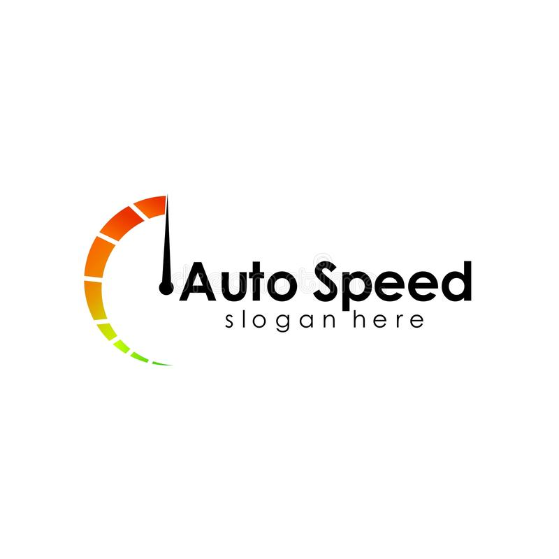 Speed logo design, silhouette speedometer symbol icon vector. Car, template, auto, fast, concept, illustration, race, abstract, element, red, racing vector illustration