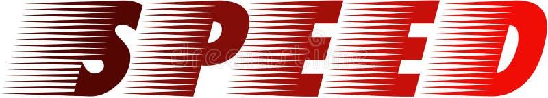Speed Logo. Moving Letters Logo royalty free illustration