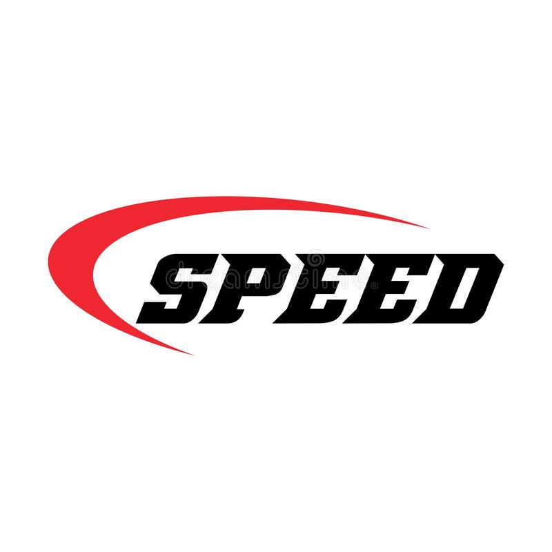 Speed logo template, fast design vector illustration. Car, up, internet, racing, rally, speedometer, concept, power, tachometer, abstract, arrow, auto stock illustration