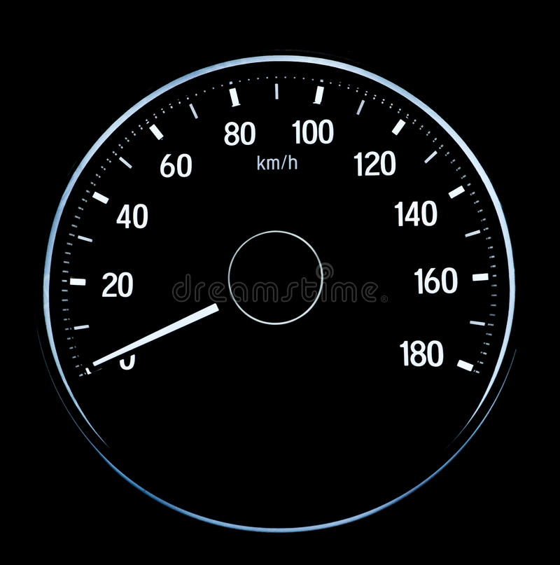 Speed measurement on auto car royalty free stock images